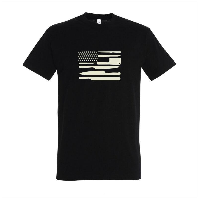 BBQ shirt - Knives USA flag